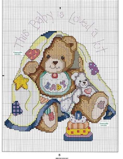 patrones de bordados para bebes osito punto de cruz punto de cruz colecci 243 n de