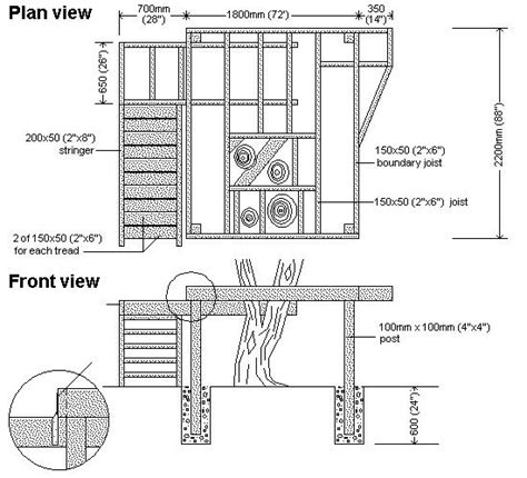 Treehouse Floor Plans by How To Build A Treehouse
