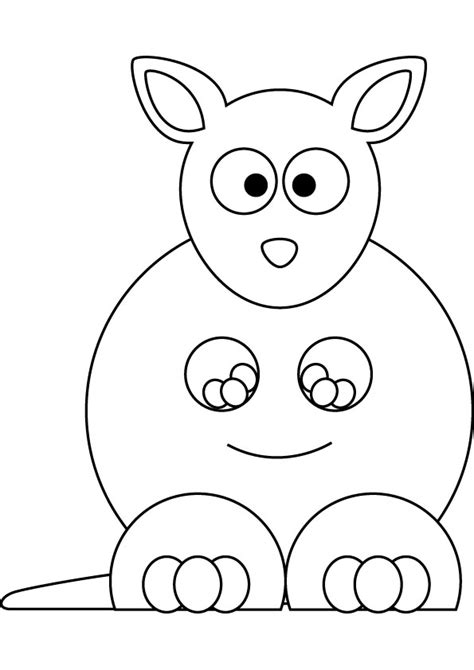 baby kangaroo coloring page free coloring pages