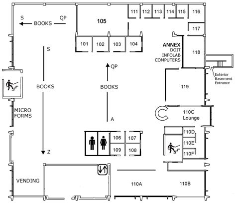 floor plan of a library floor plans steenbock library