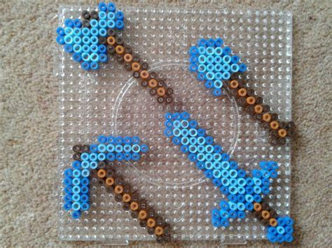 bead up minecraft tools hama perler by fromlusttodust on