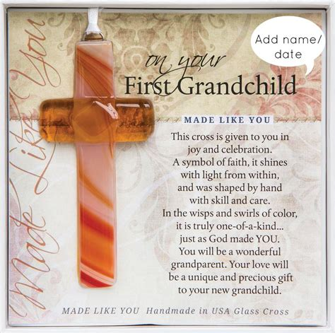 for my grandchild a grandparent s gift of memory books personalized grandchild gift cross handmade glass