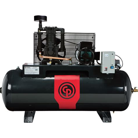 chicago pneumatic reciprocating air compressor 5 hp 80 gallon 208 230 volt 1 phase model