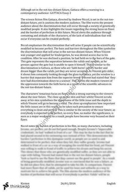 themes in gattaca essay gattaca essay exle docoments ojazlink