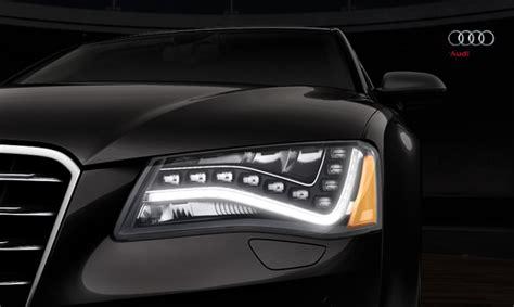 audi a8 led lights 2012 audi a8 headlights and interior lighting lights