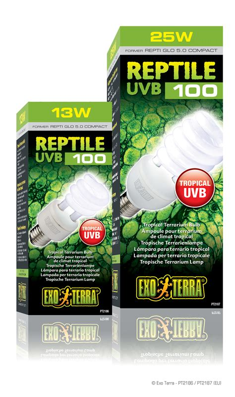 uvb l for reptiles exo terra reptile uvb100 ampoule pour terrarium de