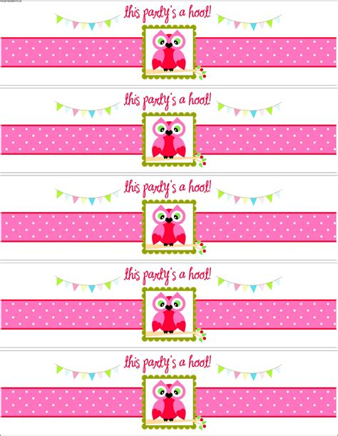 free printable water bottle label template baby shower