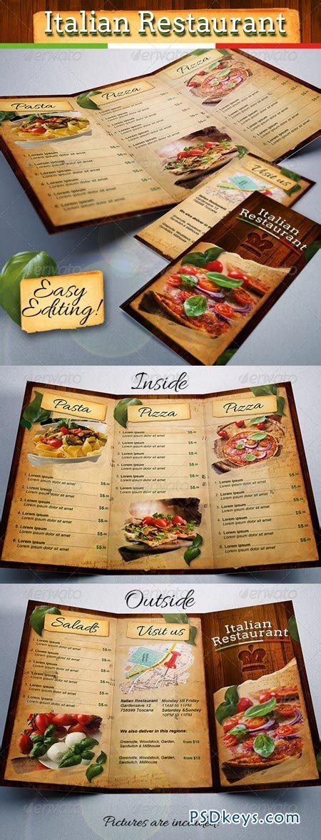 tri fold menu template photoshop italian restaurant food menu template tri fold 6959628 187 free photoshop vector stock