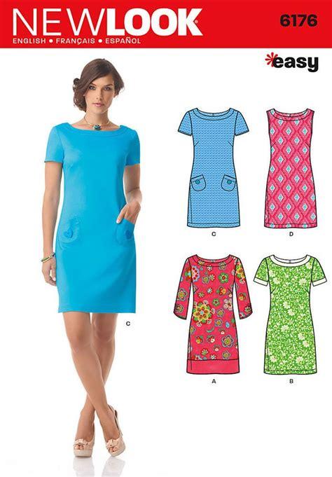 dress pattern ladies new look 6176 sewing pattern easy shift dress sleeve