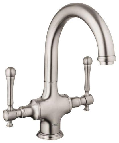 grohe bridgeford faucet w o handles contemporary