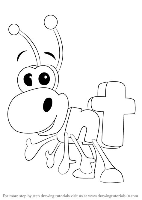 word world coloring page learn how to draw ant from wordworld wordworld step by