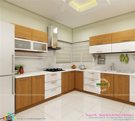 modern home interiors  bedroom dining kitchen kerala
