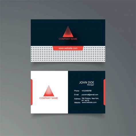 blue and orange business card template vector free