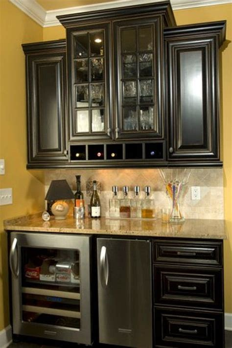 wine rack mini fridge kitchen