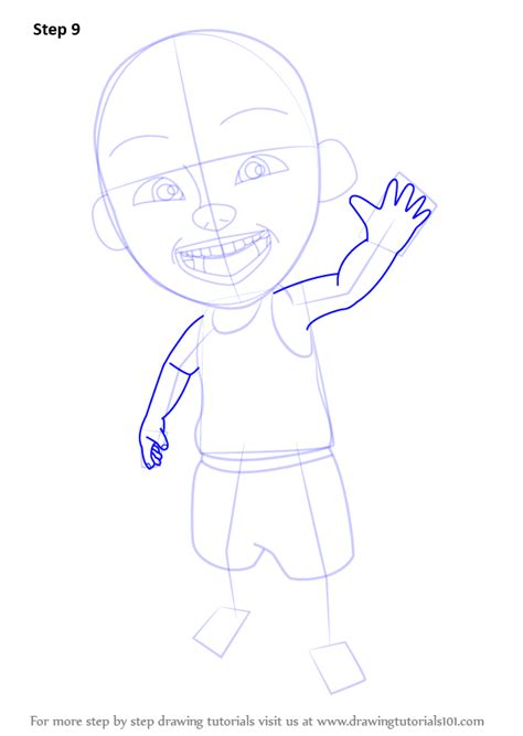 tutorial upin ipin flanel step by step how to draw ipin from upin ipin