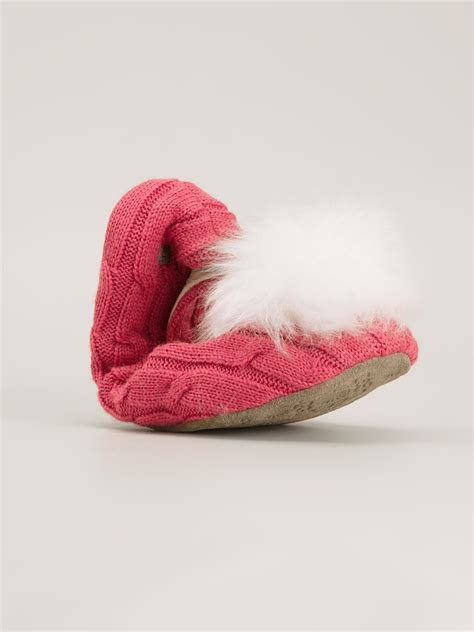knit ugg slippers ugg knit slippers in pink lyst
