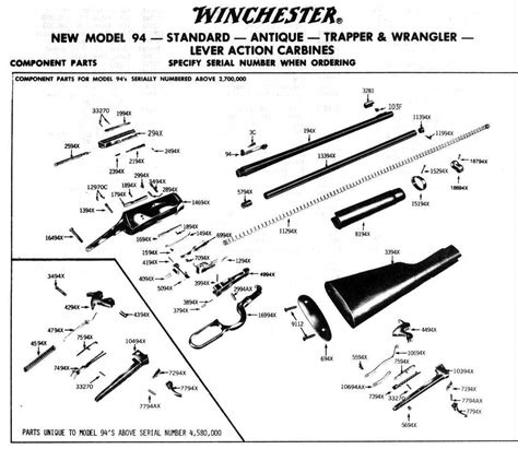 winchester model 94 parts diagram winchester model 94 post 1964