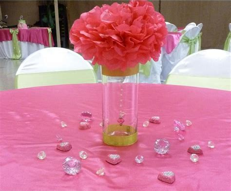 tissue paper centerpieces baby shower tissue paper centerpiece with a hanging excellent