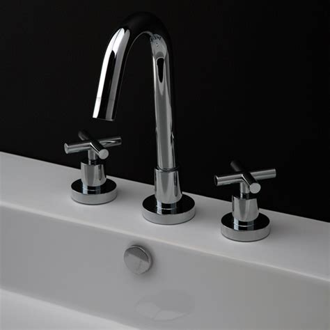 Lacava Faucet by Lacava 1582 Cr Cigno Deck Mount Three Faucet 1582 Cr