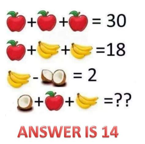 fruit quiz right answer to the viral math fruit quiz puzzle how to