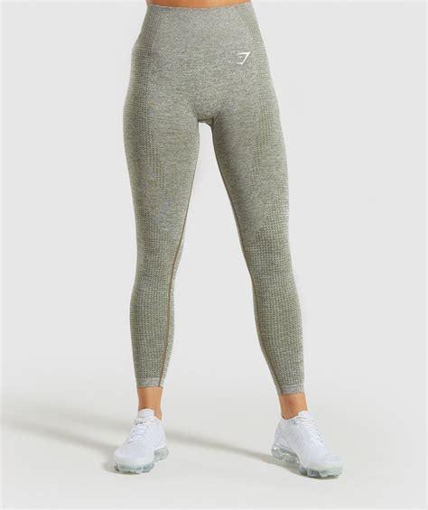 gymshark vital seamless leggings khaki marl leggings
