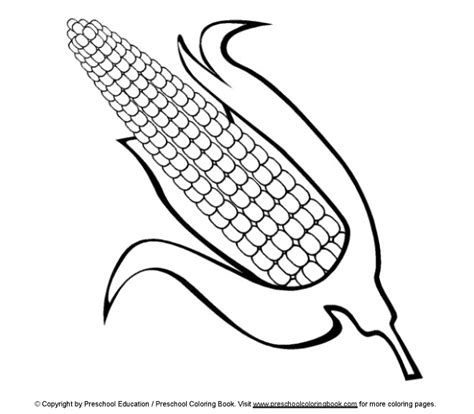 Free Coloring Pages Of Corn Field Corn Color Page