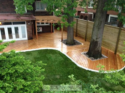 wraparound deck horizontal fence pergola and wrap around deck modern