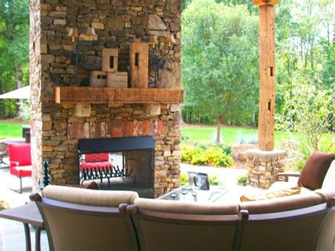 Outdoor Two Sided Fireplace by 2 Sided Outdoor Fireplace Deck Patio Ideas