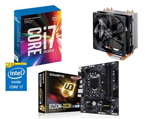 i7 7700k cpu fan intel i7 7700k gigabyte ga b250m ds3h motherboard