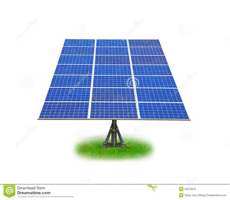 solar panel with green grass royalty free stock photo