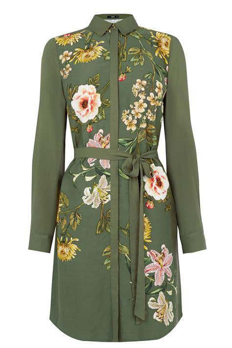 Set T Shirt Floral Dress oasis floral print shirt dress lyst