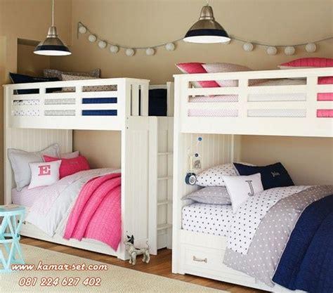 Tempat Tidur Anak Tingkat Ranjang 2 Susun Putih Kayu Mahoni ide desain kamar tidur tingkat putih kamar set kamar set