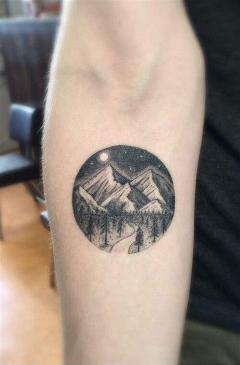circular tattoo design circular mountain ideas