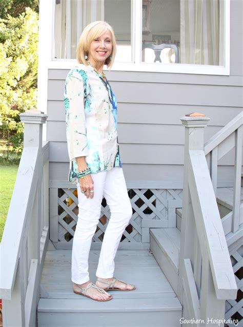 over 50 shorts outfit fashion over 50 summer into fall southern hospitality