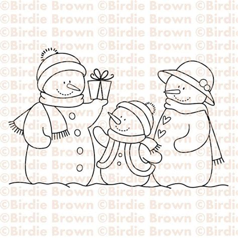 coloring page snowman family unavailable listing on etsy