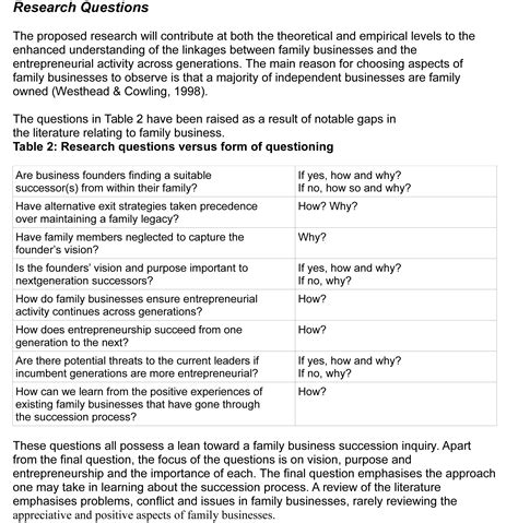 questions for research papers hypothesis for thesis