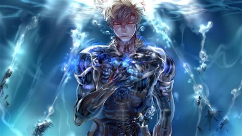 wallpaper anime opm genos full hd wallpaper and background 2560x1440 id 667603