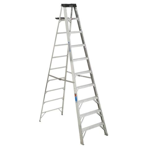 shop werner 10 ft aluminum 300 lb type ia step ladder at
