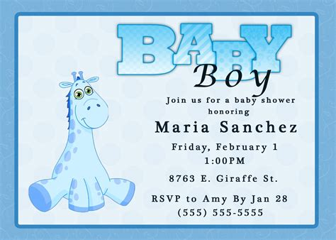 evite baby shower giraffe boy baby shower invitation kustom kreations