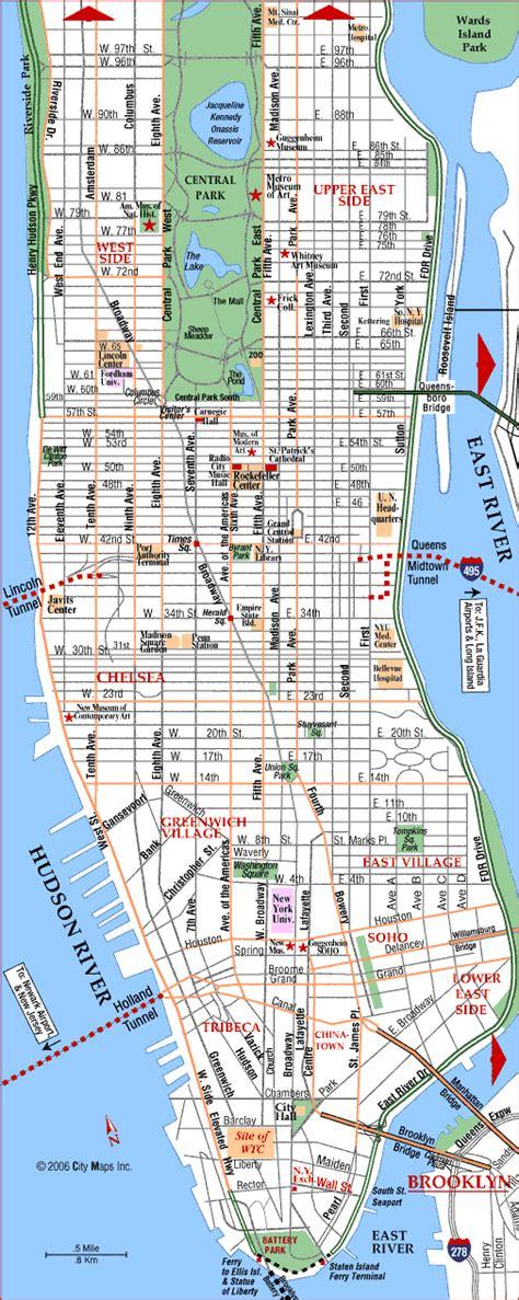 map downtown nyc map of manhattan maps manhattan