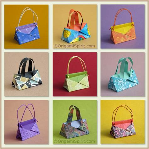 Origami Purses - a contemporary origami handbag
