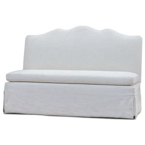 dining sofa bench liza regency ivory linen upholstered dining