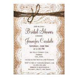 rustic wedding shower invitations rustic country burlap bridal shower invitations 4 5 quot x 6