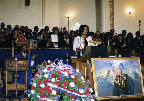 oprah winfrey eulogy for rosa parks remembering rosa parks oprah winfrey at metropolitian