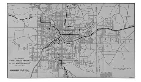 Atlanta Street Map by Mcgraw Electric Railway Manual Perry Casta 241 Eda Map