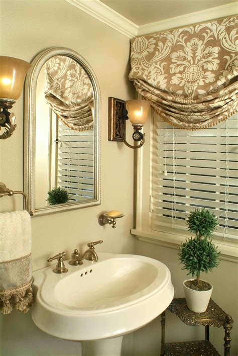 bathroom window valance relaxed roman shade pretty traditional bathroom window