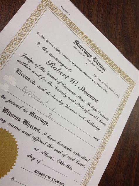 Wedding License by Wedding License Ohio Wedding Ideas 2018