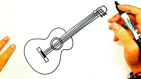 imagenes de instrumentos musicales faciles de dibujar c 243 mo dibujar una guitarra ac 250 stica paso a paso dibujo