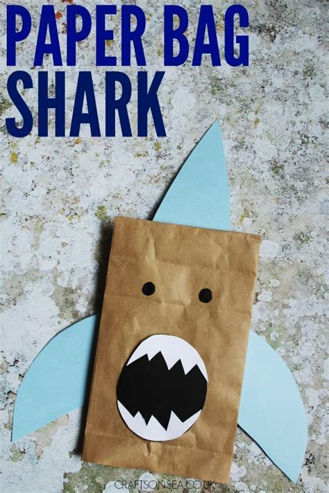 easy shark crafts for 25 best ideas about paper bag crafts on easy