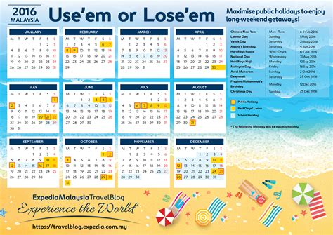 Calendar 2015 Printable With Holidays Malaysia Malaysia Holidays 2016 Calendar By Expedia My